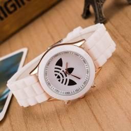 Relógio Esportivo Branco, Pronta Entrega, Pagamento Na Retirada