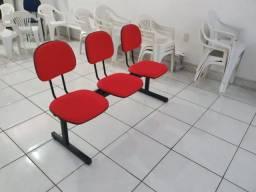 Longarina Secretaria 03 Lugares - P/ Igrejas - Escolas Empresas e escritórios
