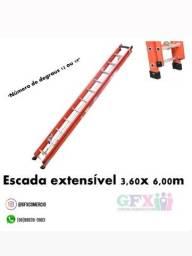 Escada extensível 3,60x6,00m
