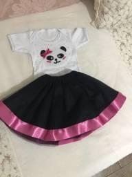 Body personalizado Panda Rosa