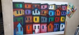 "Quadro ""raio-x da favela"" por Bernardo Araújo"
