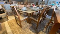 Título do anúncio: Mesa de jantar ATUALLE de madeira e acabamento laka luxo