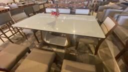 Título do anúncio: Mesa LETICIA de jantar nova completa pronta entrega 8 cadeiras de madeira maciça