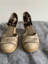 Sandália espadrille cor cinza