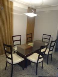Título do anúncio: Oportunidade. Mesa com tampo de vidro e seis cadeiras