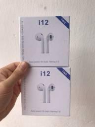 I12 tws fone de ouvido sem fio