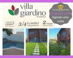 Villa Giardino, 3/4 (1 suíte), em 129m² + 2 vagas - Oportunidade !!