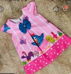 Título do anúncio: Vestido da galinha pitadinha  Rosa