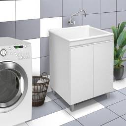 Título do anúncio: Imperdível!!! Armário para lavanderia com tanque de fibra 40litros.