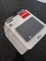 SSD 240GB Kingston Sata3 - Lacrado - Novo