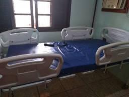 Cama hospitalar motorizada de dois movinentos com colchão
