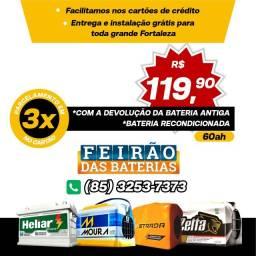 Título do anúncio: Bateria Moura Bateria Zetta Bateria Heliar Bateria Bosch Bateria América