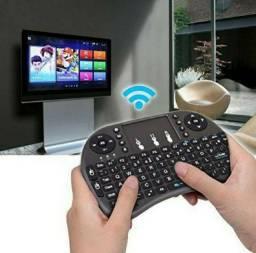 Título do anúncio: Mini Teclado Wireless Touch Para Tv Smart RGB