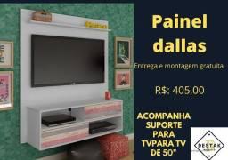 Painel Dallas acompanha suporte para tv até 50 p entrega e Montagem Gratuita painel