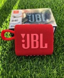 Caixa de Som Portátil JBL Go 3 com Bluetooth e À Prova de Poeira e Água (ENTREGA GRÁTIS)