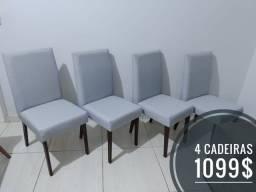 4 cadeiras para sala de jantar