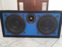Caixa de som Amplificada Automotivo + Módulo