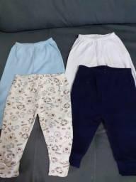 4 calças bebê tamanho M