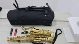 Título do anúncio: Saxofone Alto Mib- Harmonics - Faço parcelamento