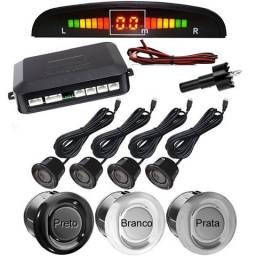 Sensor de Estacionamento Prata/Preto/Branco Completo