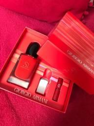 Perfume Si Passione Giorgio Armani 50 ml + Miniatura batom líquido Armani
