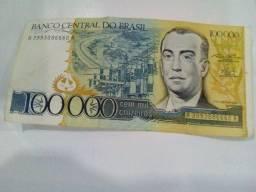 Título do anúncio: Dinheiro brasileiro antigo Cem mil cruzeiros
