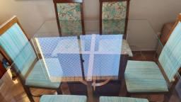Título do anúncio: Mesa quadrada 6 lugares, 6 cadeiras