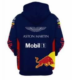 Moletom Fórmula 1 Red Bull Racing Azul