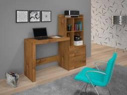 Título do anúncio: Mesa Office Alana 2 gavetas e 2 nichos  - Frete Grátis - Receba Hoje!