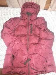 Jaqueta de gomô bordo usada