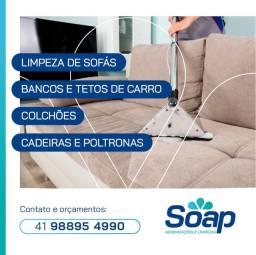 Higienização de sofás, entre outros...