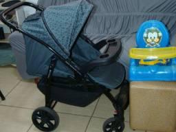 Carrinho de Bebê Burigotto Primus + Cadeirinha Excelente Conservados