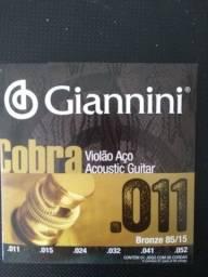 Cordas AÇO 0.11 Gianinni