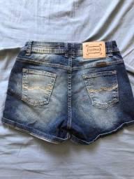 Bermuda jeans na etiqueta