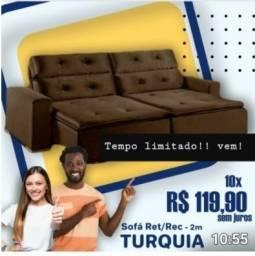 Super Promoção do Dia!!! Retrátil Reclinável 2,00m Largura com Pillow - Só R$1.199,00
