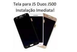 Tela / Display para J5 Duos - J500 / DS - Melhor Preço do ES e Instalação em 30 Minutos!