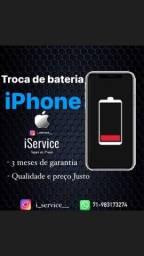 Título do anúncio: Troca bateria iphone todos os modelos delivery