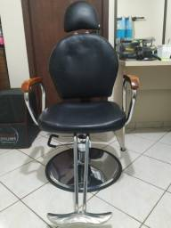 Cadeira Hidráulica Reclinável Barbeiro Em Couro Pu Pel-036a
