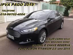 Ford fusion titanium 2.0 -ipva 2019 pago - 2014