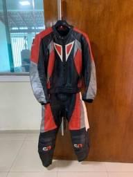 Macacão profissional Moto Racing 100% couro impecável