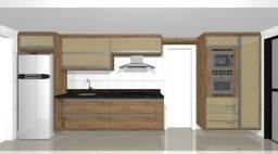 Apartamento frente Mar - cozinha projetado | novo nunca Habitado