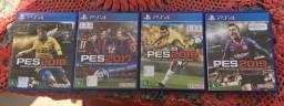 Jogos PES 16, 17, 18 e 19 PlayStation 4
