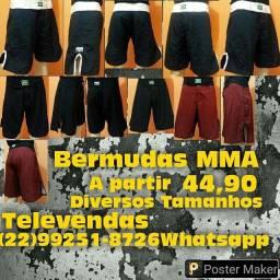 Bermudas MMA Profissional Vendas Atacado Diversos Tamanhos e Cores