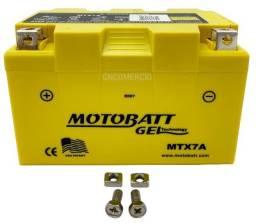 Bateria 100% Gel Motobatt Mtx7a Ytx7a-bs Suzuki Burgman 125 Vz 400 Shineray 150gy Max 150