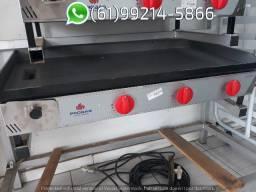 Chapa Industrial a gás 100x50cm Progás Bifeteira
