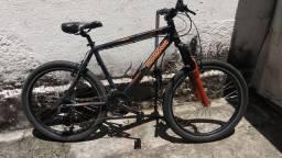 Bicicleta mtb aro 26 mongosse toda Shimano com 10 velocidades
