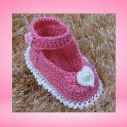 Sapatinho de crochê para bebê