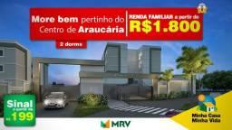 2 dorms em Araucária - Renda familiar a partir de R$1.800 - Minha Casa Minha Vida