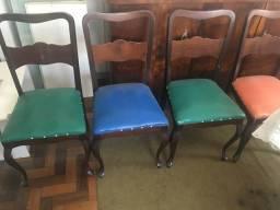 Cadeira antiga madeira e mola