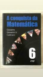 """Livros """"A conquista da Matemática 6"""""""